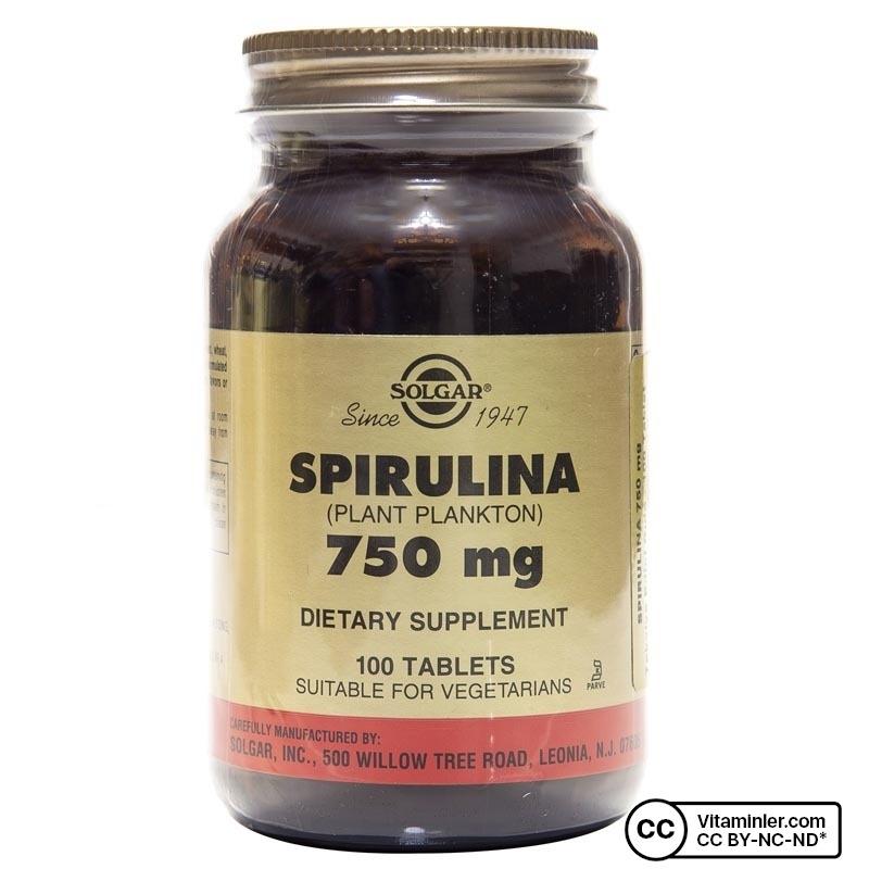 Solgar Spirulina 750 Mg 100 Tablet