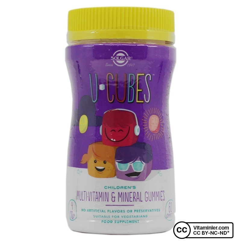 Solgar U-Cubes Multi-Vitamin & Mineral 60 Gummies
