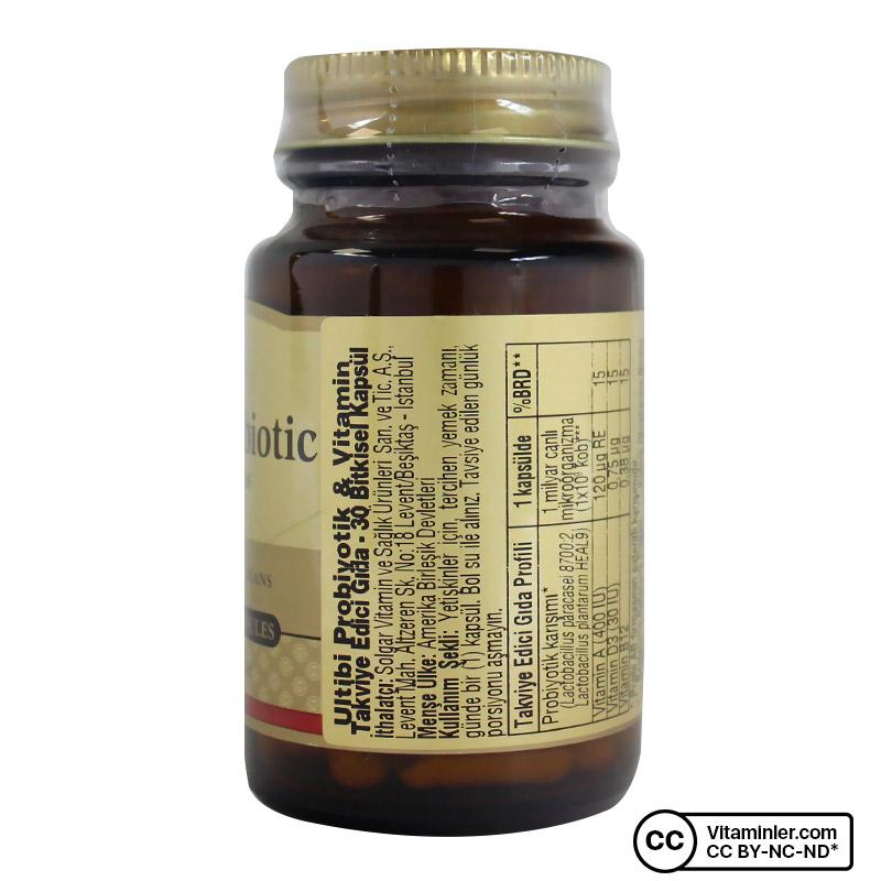 Solgar Ultibi Probiotic with Vitamins 30 Kapsül