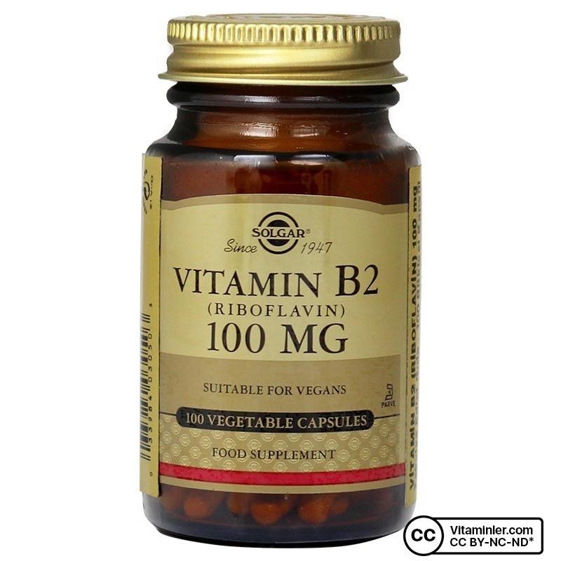 Solgar Vitamin B2 (Riboflavin) 100 Mg 100 Kapsül