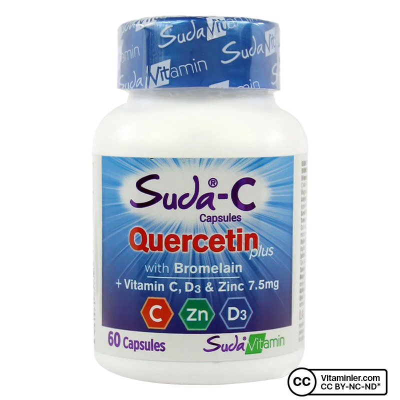 Suda C Quercetin Plus 60 Kapsül