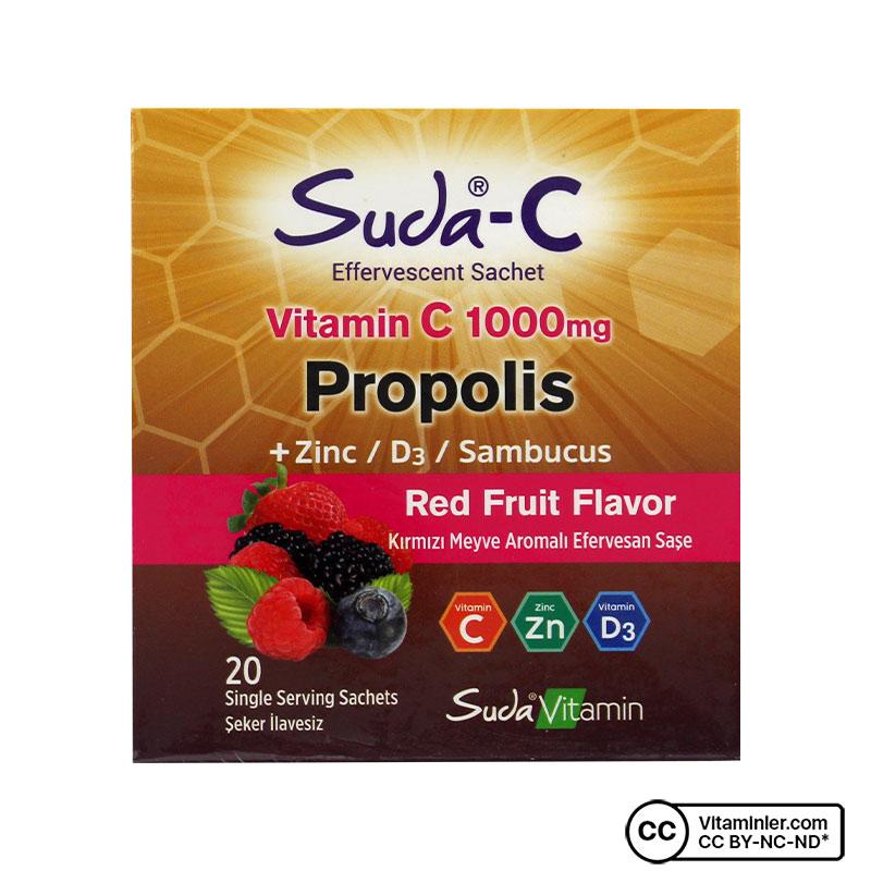 Suda C Vitamin C 1000 Mg Propolis 20 Saşe