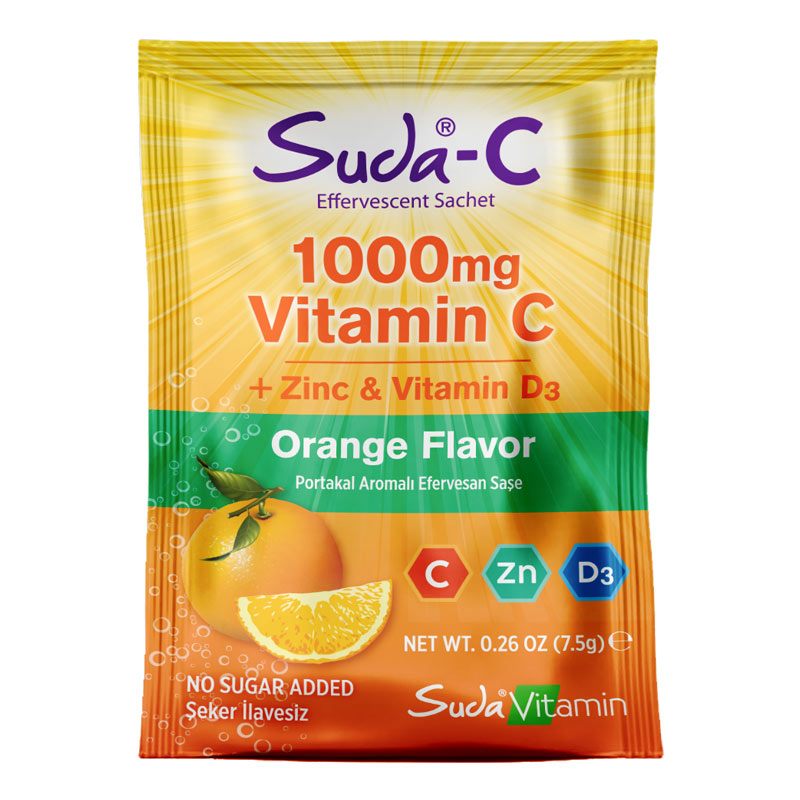 Suda Vitamin 1000 Mg Vitamin C + Çinko & D3 20 Saşe