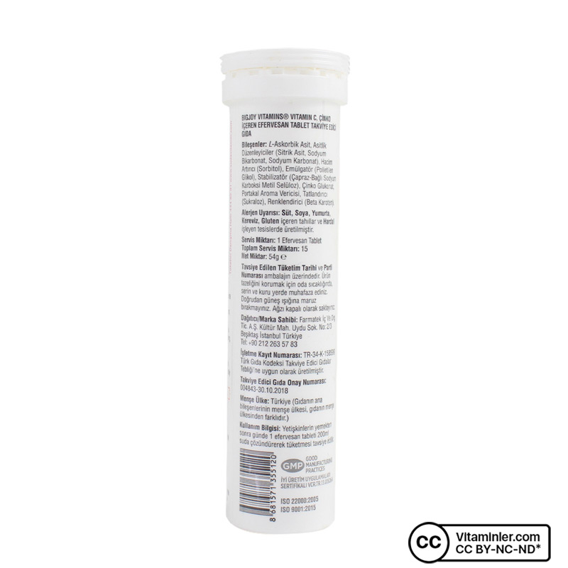 Suda Vitamin C 1000 Mg + Çinko 15 Efervesan Tablet