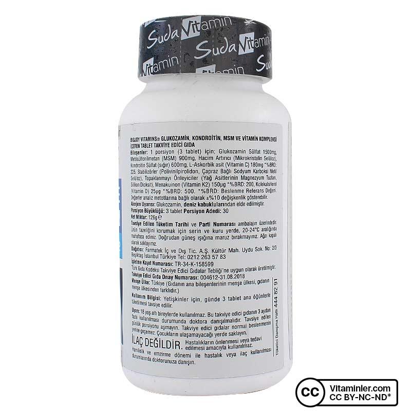 Suda Vitamin Glucosamine Chondroitin MSM 90 Tablet