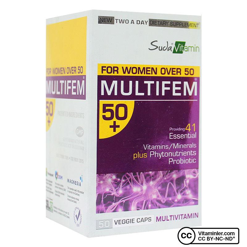Suda Vitamin Multifem 50+ Multivitamin 50 Kapsül