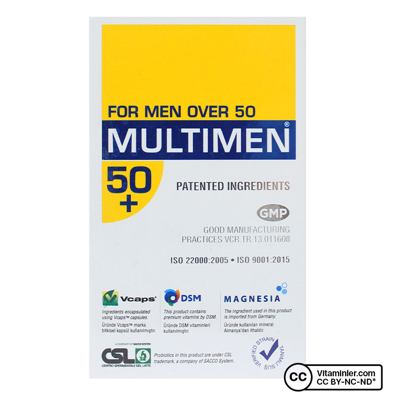 Suda Vitamin Multimen 50+ Multivitamin 50 Kapsül