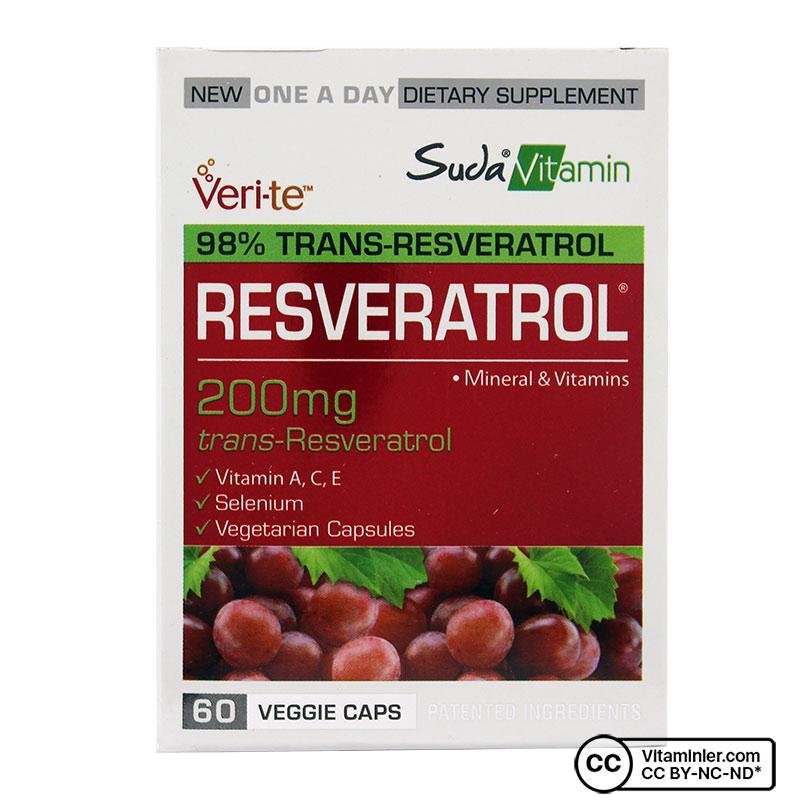 Suda Vitamin Resveratrol 200 Mg 60 Kapsül
