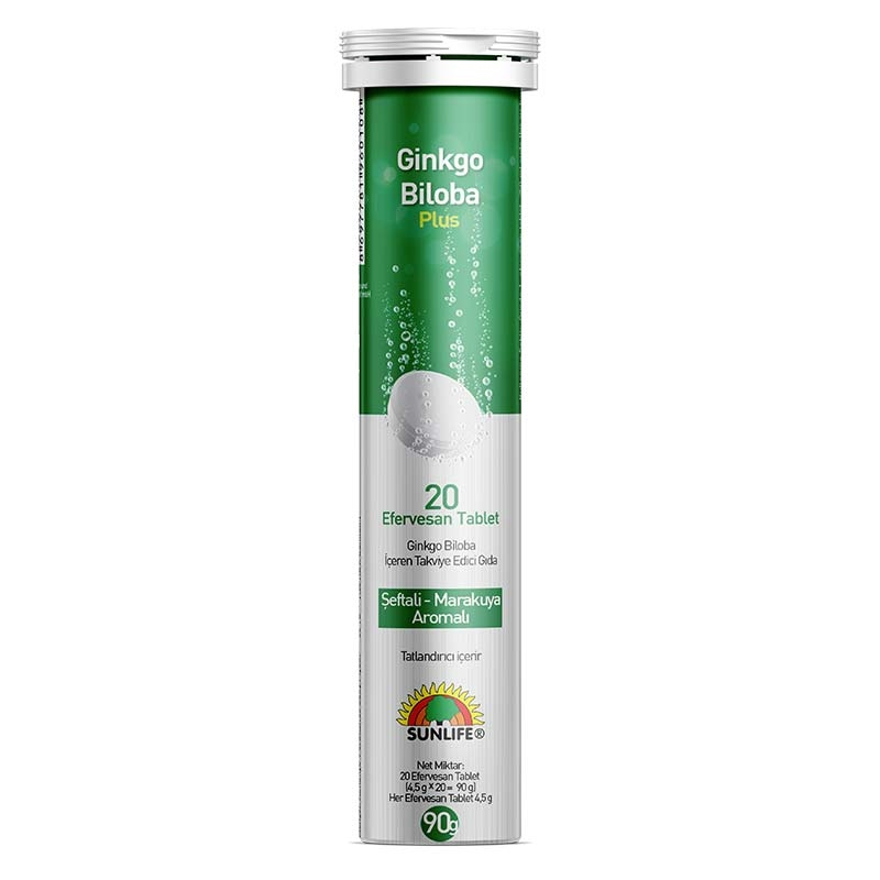 Sunlife Ginkgo Biloba Plus 20 Efervesan Tablet
