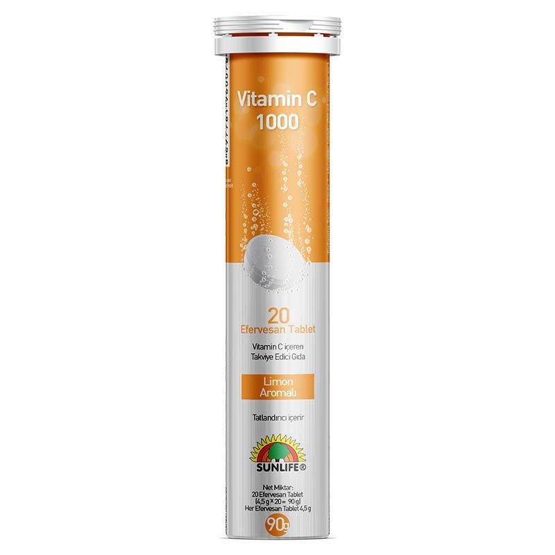 Sunlife Vitamin C 1000 Mg 20 Tablet