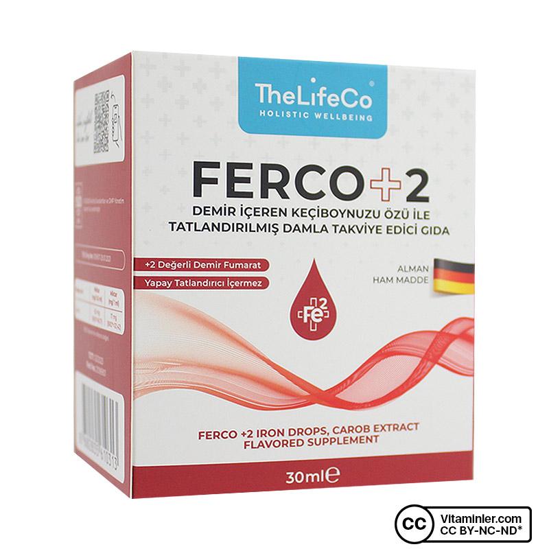 The Lifeco Ferco +2 Değerlikli Demir Damlası 30 mL