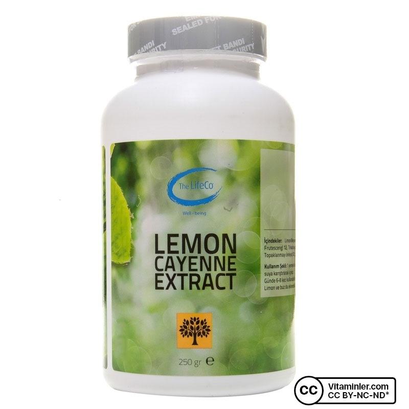 The Lifeco Lemon Cayenne Extract 250 Gr