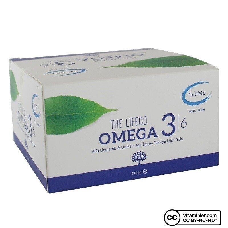 The Lifeco Omega 3 6 Bitkisel Yağ Karışımı 16 Flakon