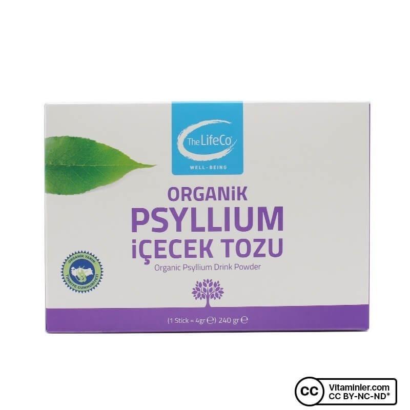 The LifeCo Organik Psyllium İçecek Tozu 240 Gr 60 Saşe