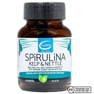 The Lifeco Spirulina Kelp & Nettle 60 Kapsül