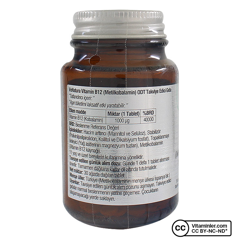 Venatura B12 Metilkobalamin ODT 30 Tablet