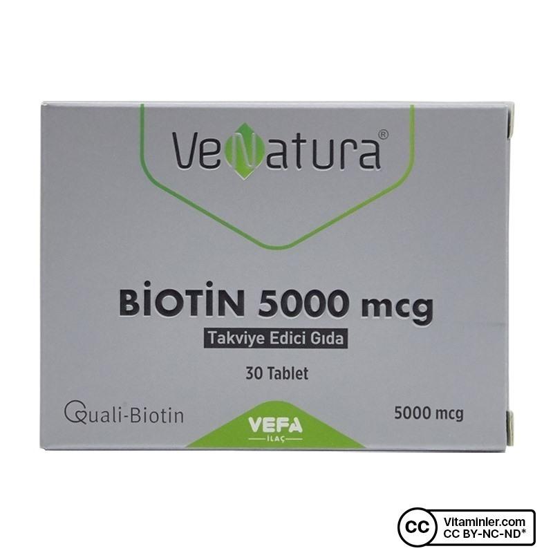 Venatura Biotin 5000 Mcg 30 Tablet