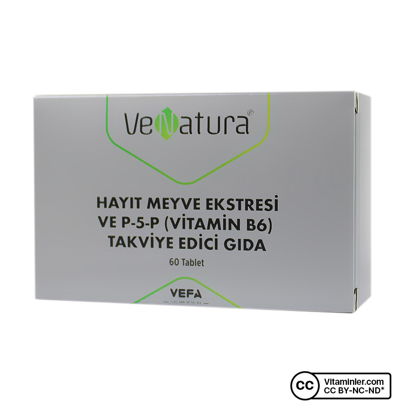 Venatura Hayıt Meyve Ekstresi ve P-5-P (B6 Vitamini) 60 Tablet