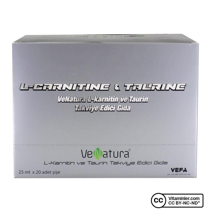 Venatura L-Karnitin ve Taurin 25 ml x 20 Şişe