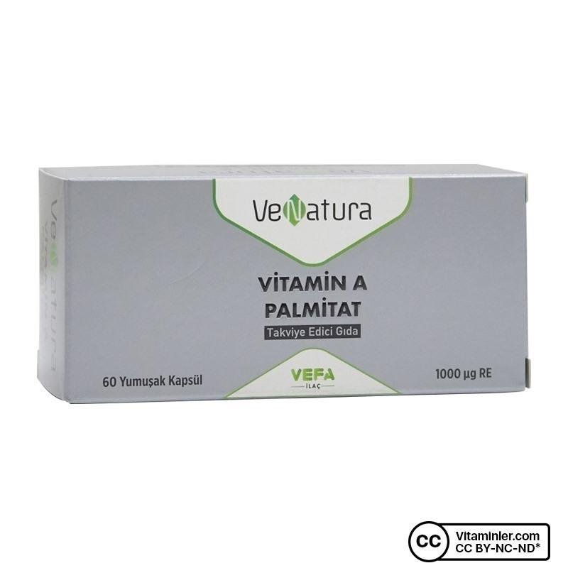 Venatura Vitamin A Palmitat 60 Kapsül
