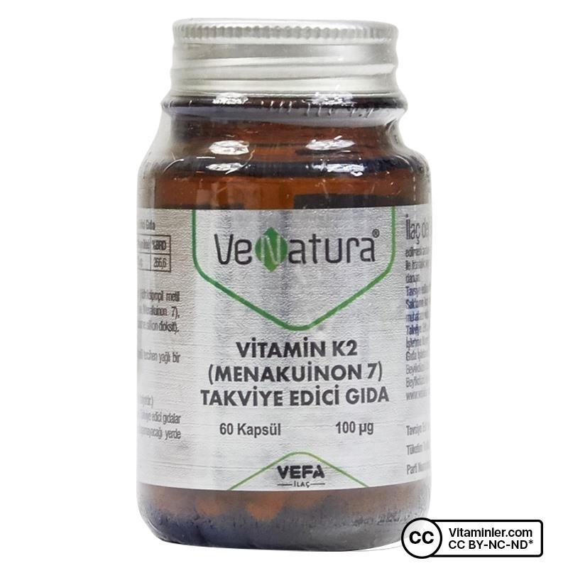 Venatura Vitamin K2 (Menakuinon 7) 100 Mcg 60 Kapsül