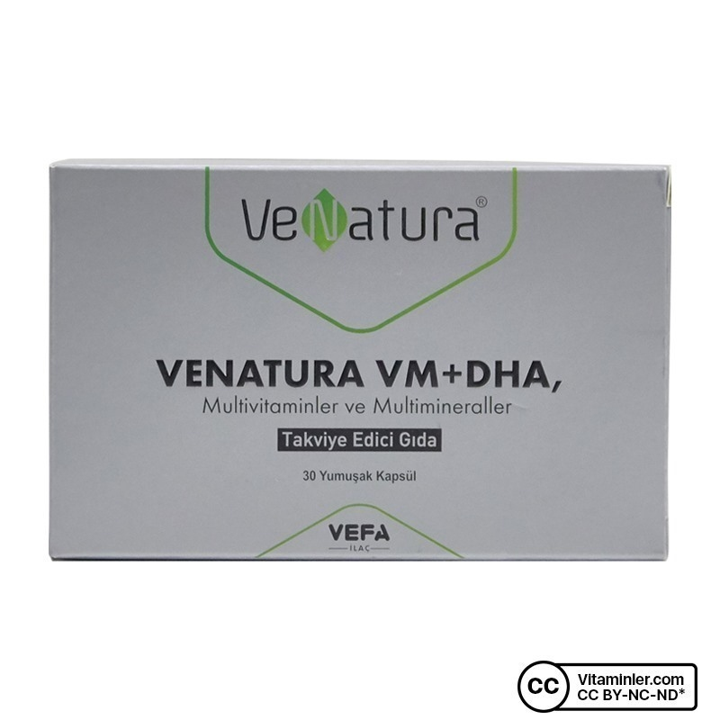 Venatura VM+DHA Multivitamin Multimineral 30 Kapsül