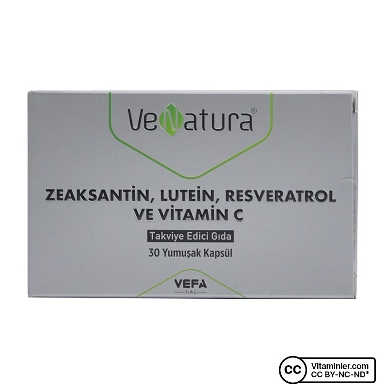 Venatura Zeastaksantin Lutein Resveratrol Vitamin C 30 Kapsül