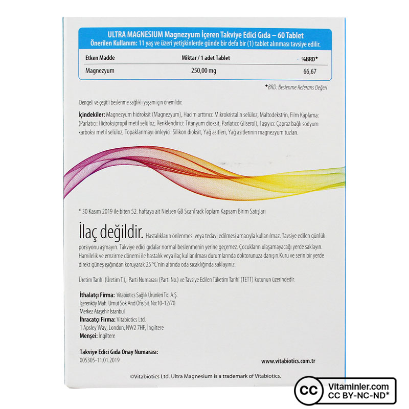 Vitabiotics Ultra Magnesium 60 Tablet