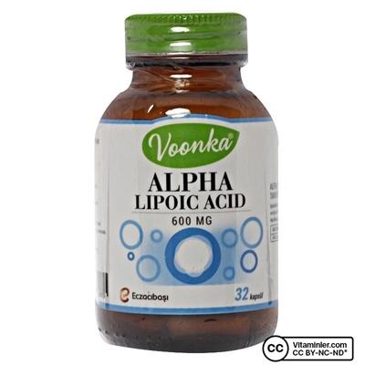 Voonka Alpha Lipoic Acid 600 Mg 32 Kapsül