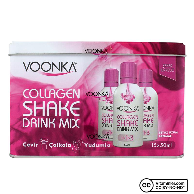 Voonka Beauty Collagen Shake Drink Mix 15 x 50 mL
