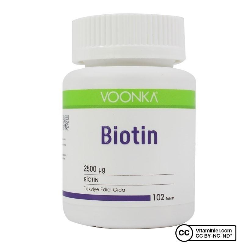 Voonka Biotin 2500 Mcg 102 Tablet