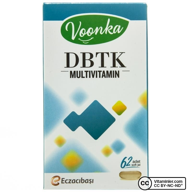 Voonka DBTK Multivitamin 62 Kapsül