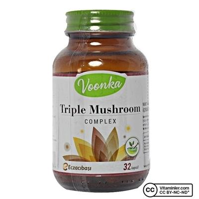 Voonka Triple Mushroom Complex 32 Kapsül