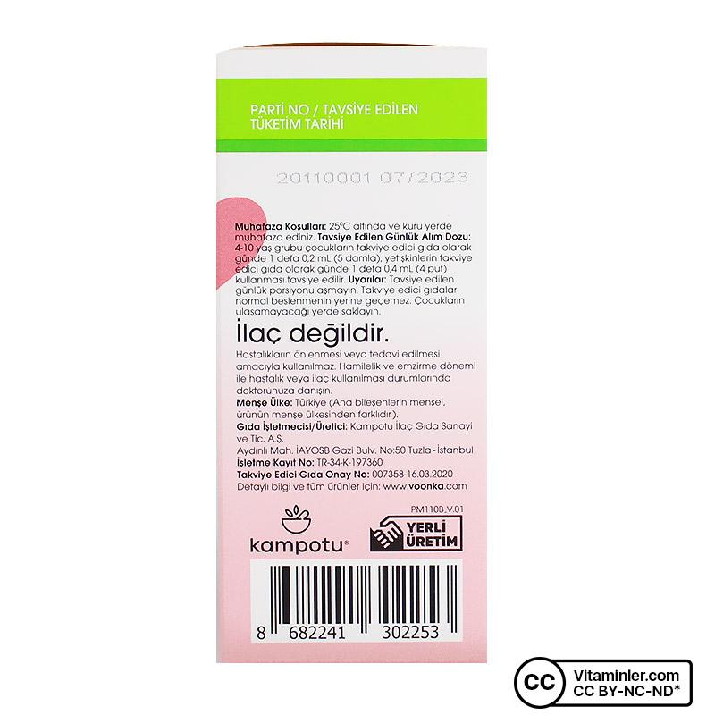 Voonka Vitamin B12 Metilkobalamin 20 mL Sprey & Damla
