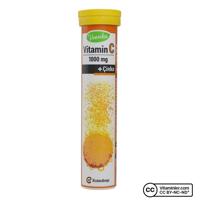 Voonka Vitamin C 1000 Mg + Çinko 20 Efervesan Tablet