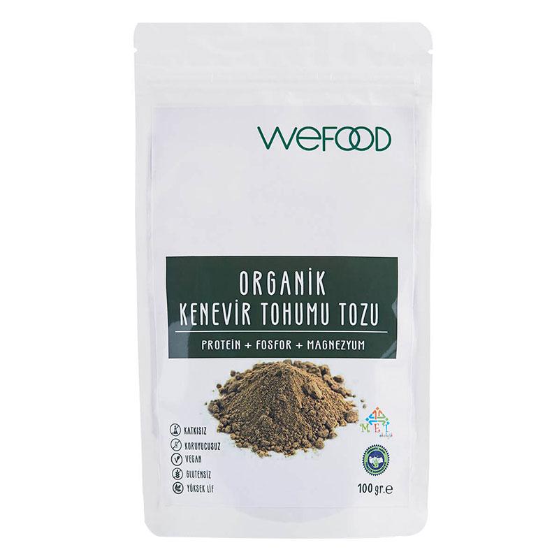 Wefood Organik Kenevir Tohumu Tozu 100 Gr