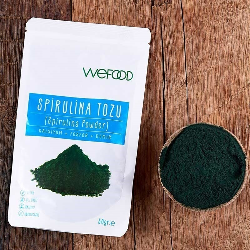 Wefood Organik Spirulina Tozu 50 Gr