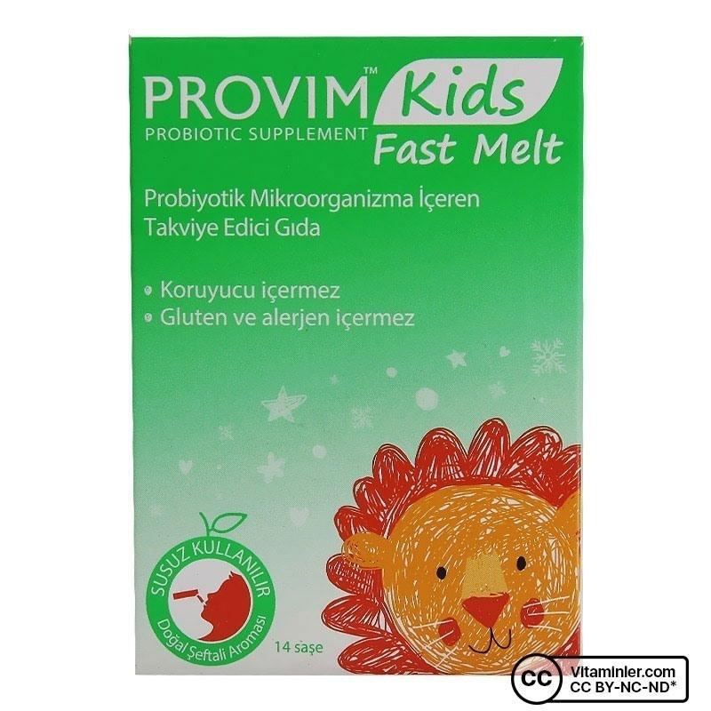 Wellcare Provim Kids Fast Melt Probiyotik 14 Saşe