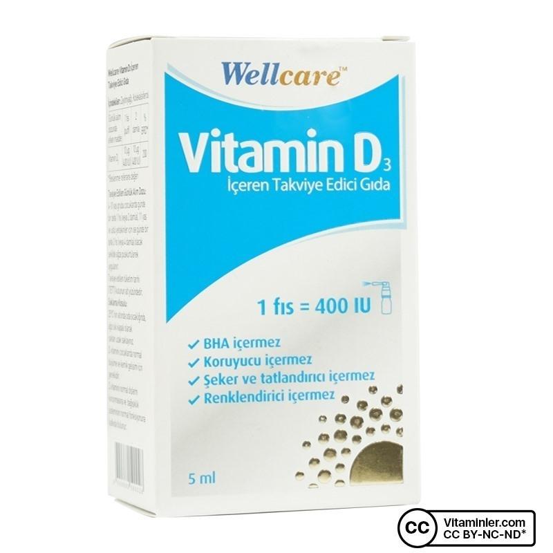 Wellcare Vitamin D3 400 IU 5 mL Sprey