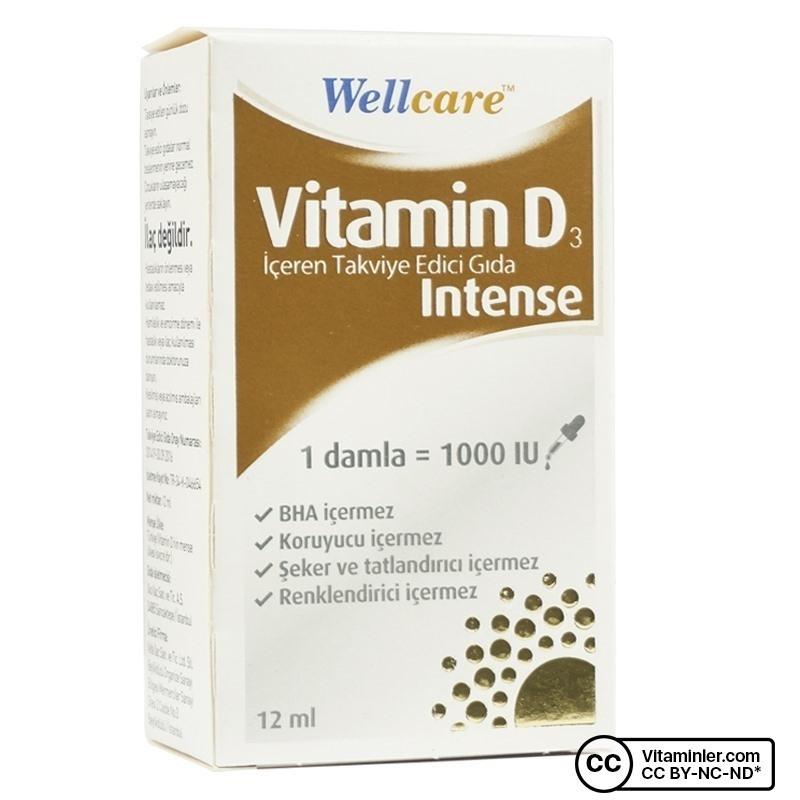 Wellcare Vitamin D3 Intense 1000 IU 12 mL Damla