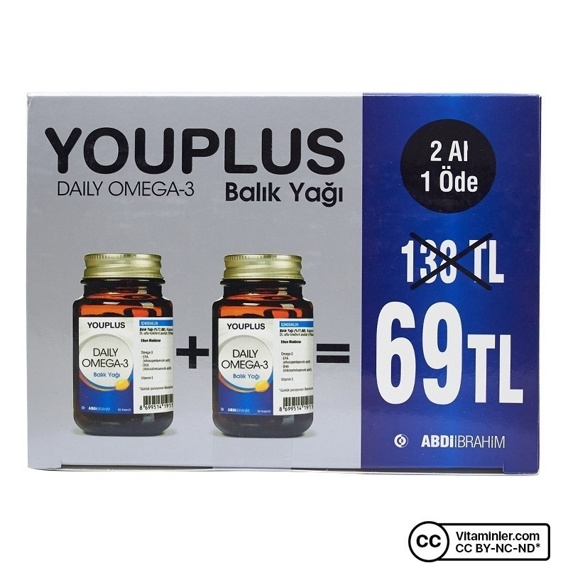 YouPlus Daily Omega-3 30 Kapsül 2 Al 1 Öde