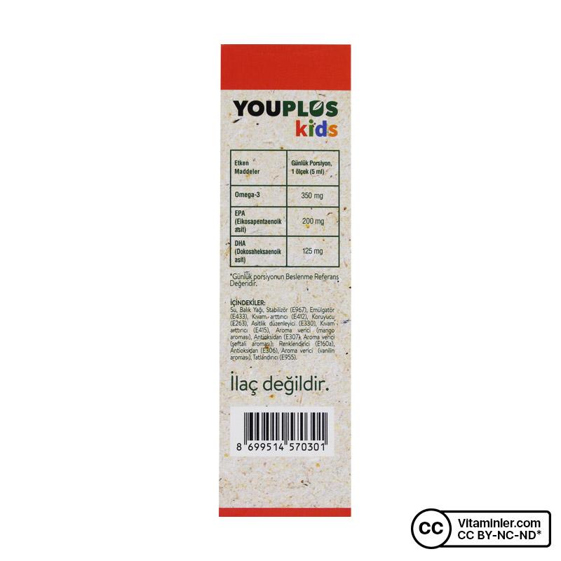 YouPlus Kids Multivitamin + Balık Yağı Omega 3 Hediyeli