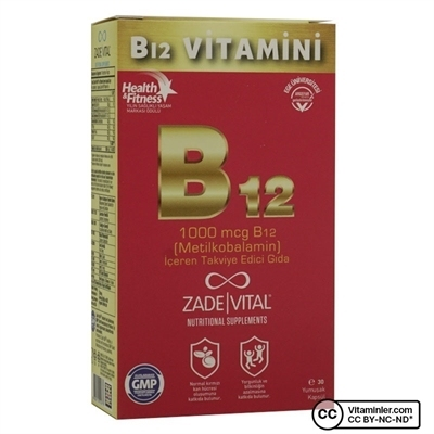 Zade Vital B12 Vitamini 30 Kapsül