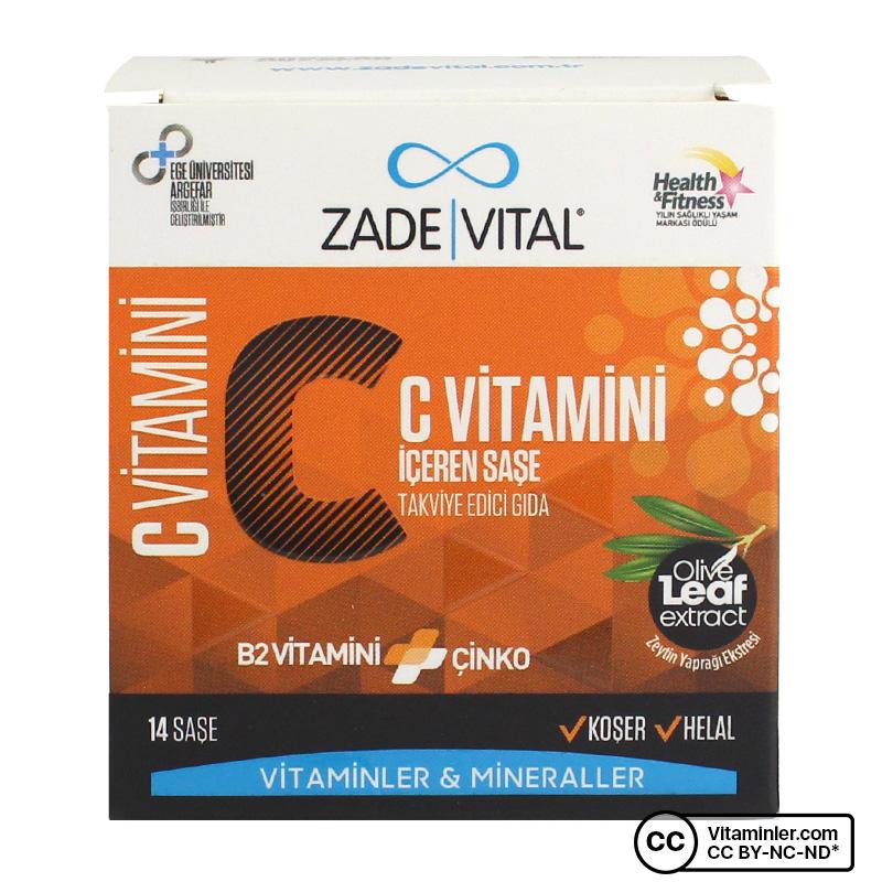 Zade Vital C Vitamini + B2 Vitamini + Çinko 14 Saşe
