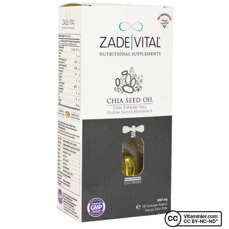 Zade Vital Chia Seed Oil 1000 Mg 30 Kapsül