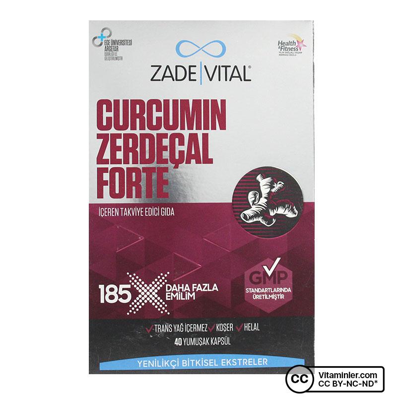 Zade Vital Curcumin Forte - Zerdeçal 1000 Mg 40 Kapsül