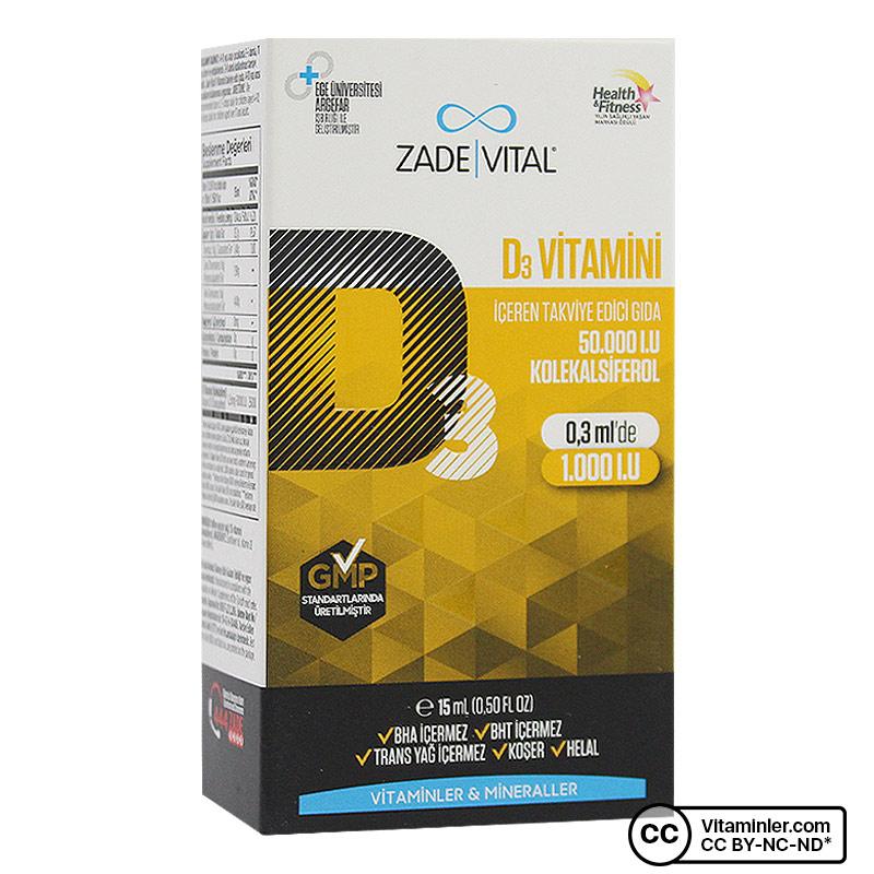 Zade Vital D3 Vitamini 15 mL Oral Damla