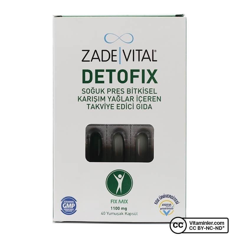 Zade Vital Detofix 1100 Mg 40 Kapsül