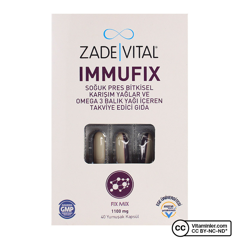 Zade Vital Immufix 1100 Mg 40 Kapsül