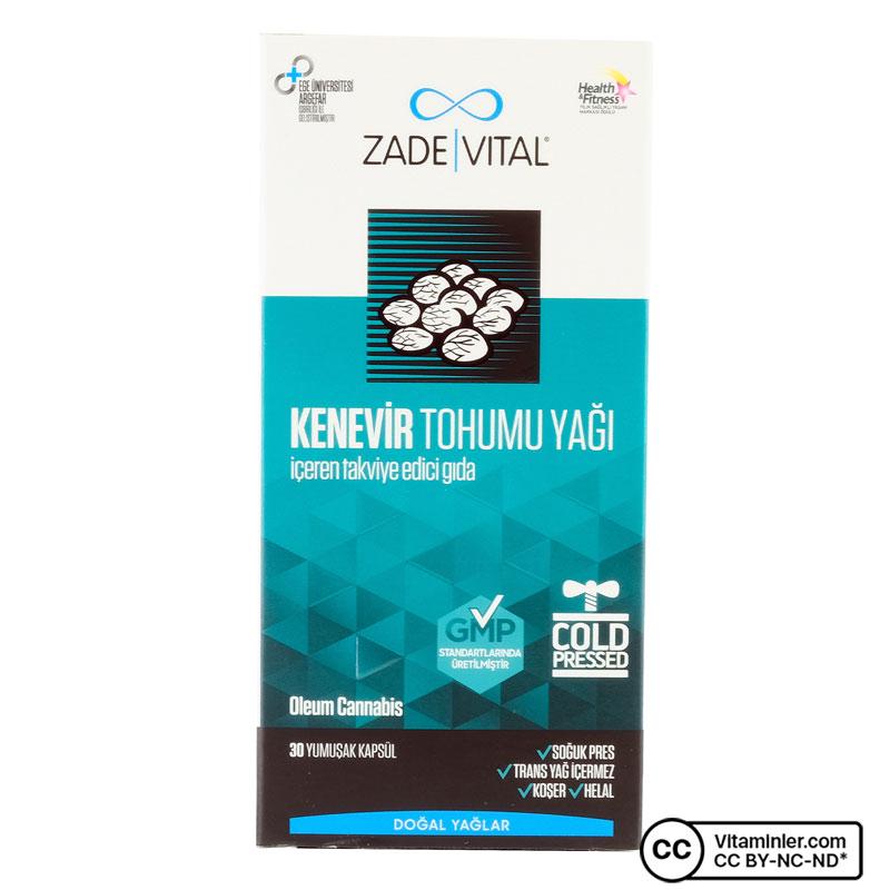Zade Vital Kenevir Tohumu Yağı 1000 Mg 30 Kapsül